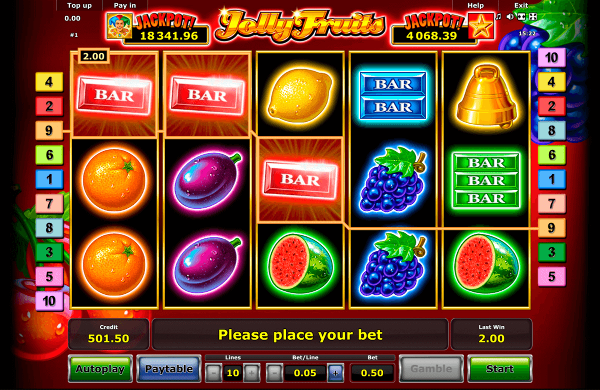 jolly fruits novomatic slot