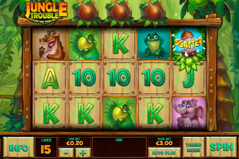 jungle trouble playtech slot