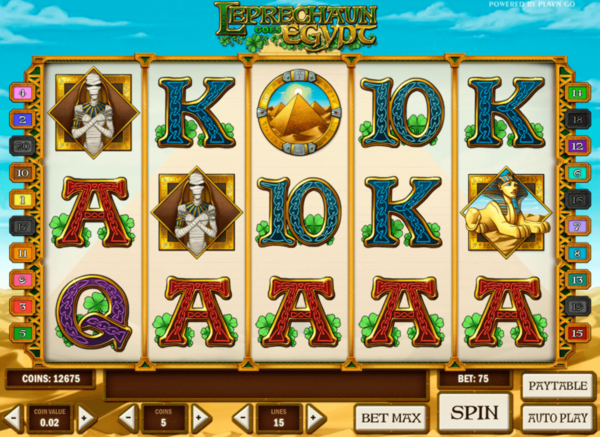 leprechaun goes egypt playn go slot