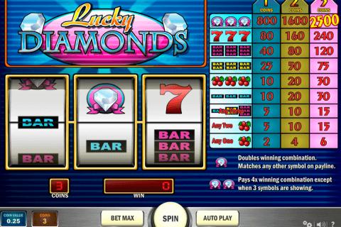 lucky diamonds playn go slot
