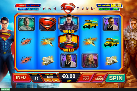 man of steel playtech slot