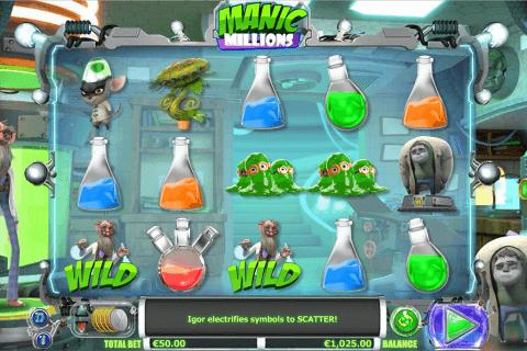 manic millions netgen gaming slot