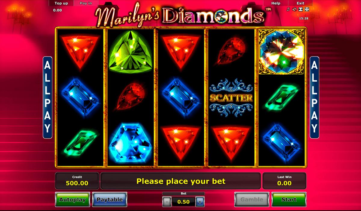 marilyns diamonds novomatic slot