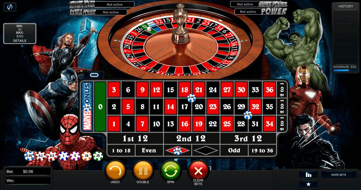 marvel roulette playtech online
