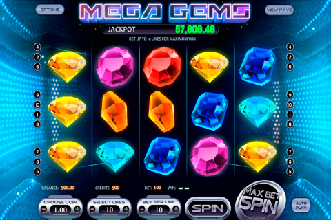 mega gems betsoft slot