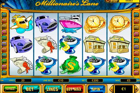 millionaires lane playtech slot