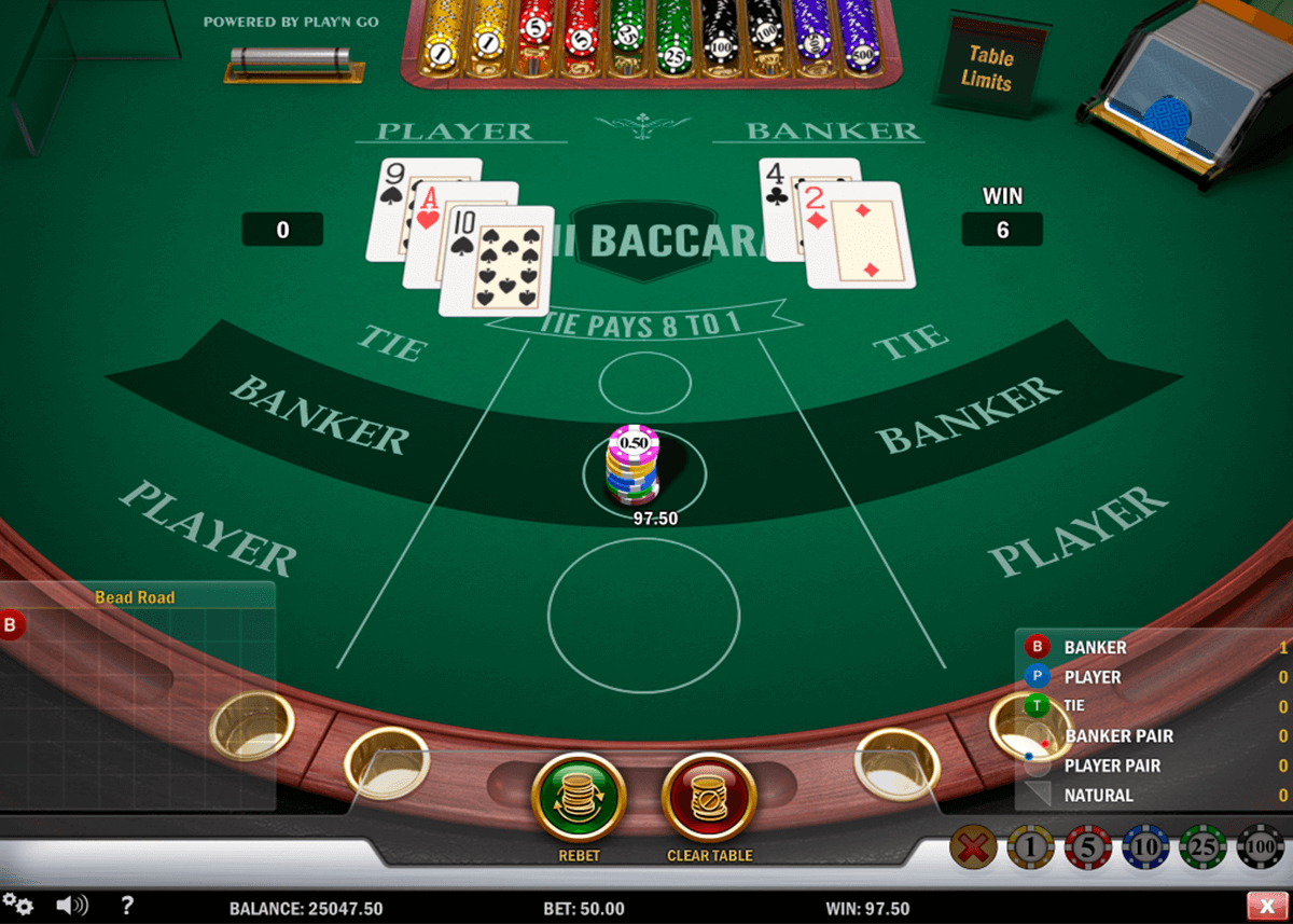 mini baccarat playn go online