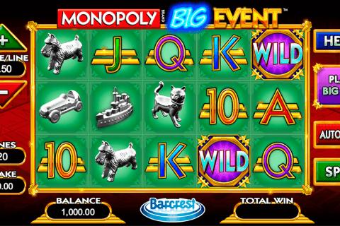 monopoly big event wms slot