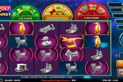 monopoly mega movers wms slot