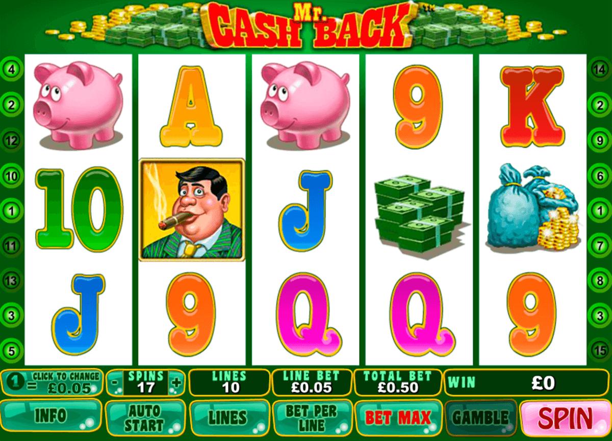 mr cashback playtech slot