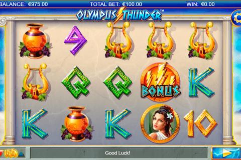 olympus thunder netgen gaming slot