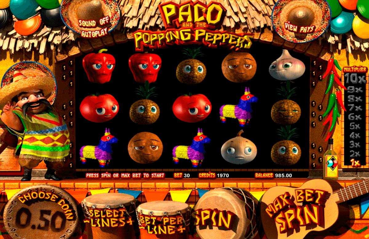 paco and the popping peppers betsoft slot