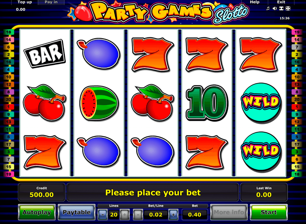 party games slotto novomatic slot