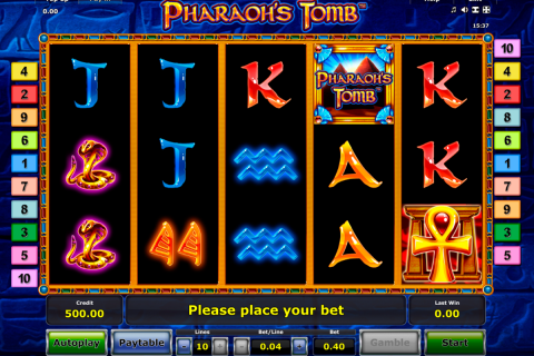 pharaohs tomb novomatic slot