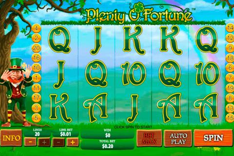 plenty o fortune playtech slot