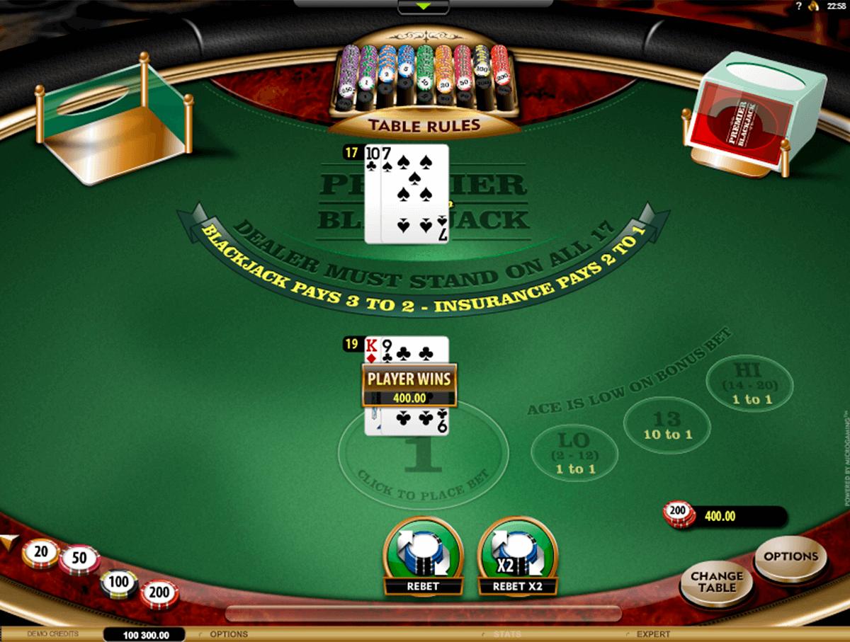 premier blackjack hi lo gold microgaming online