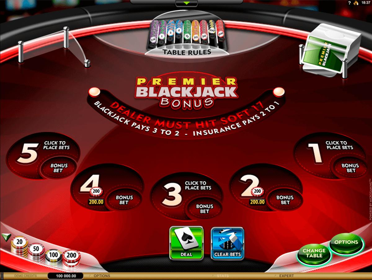 premier blackjack multihand euro bonus gold microgaming online