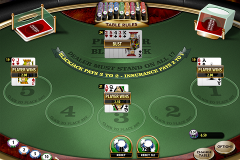 premier blackjack multihand gold microgaming online
