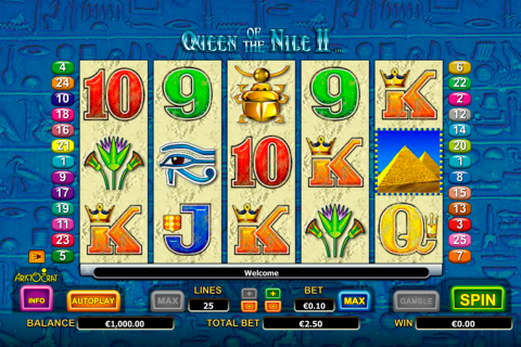 queen of the nile ii aristocrat slot