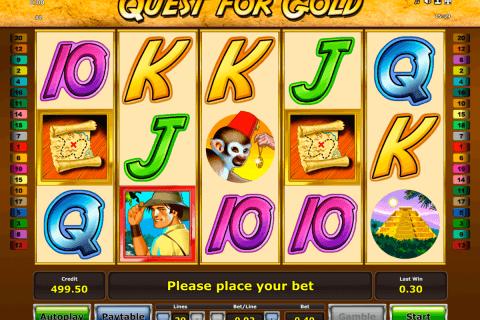 quest for gold novomatic slot