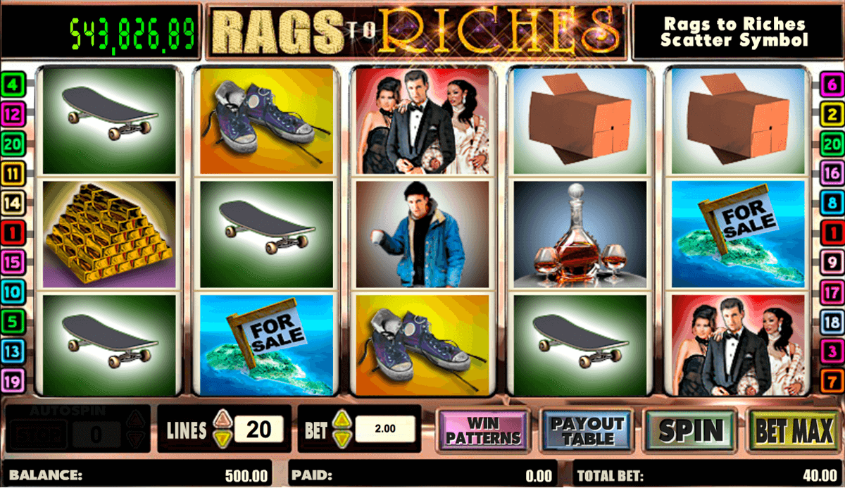 rags to riches amaya slot