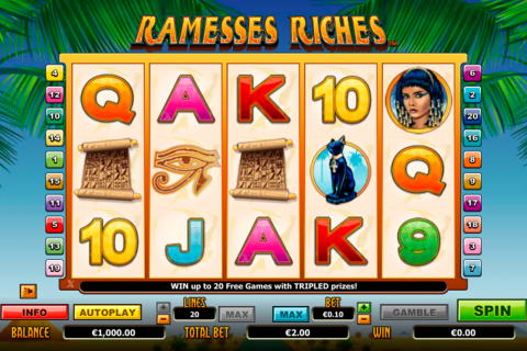ramesses riches netgen gaming slot