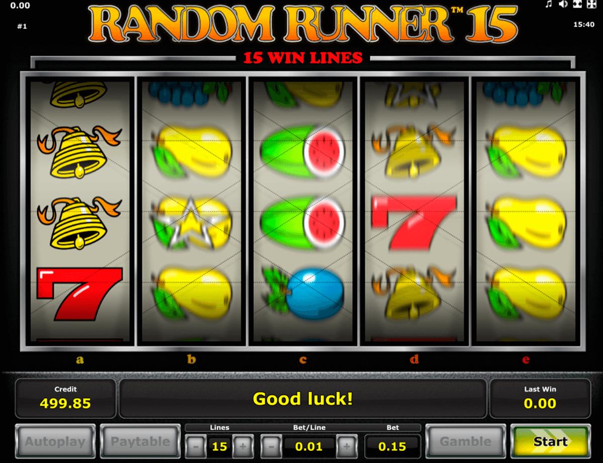 random runner  novomatic slot