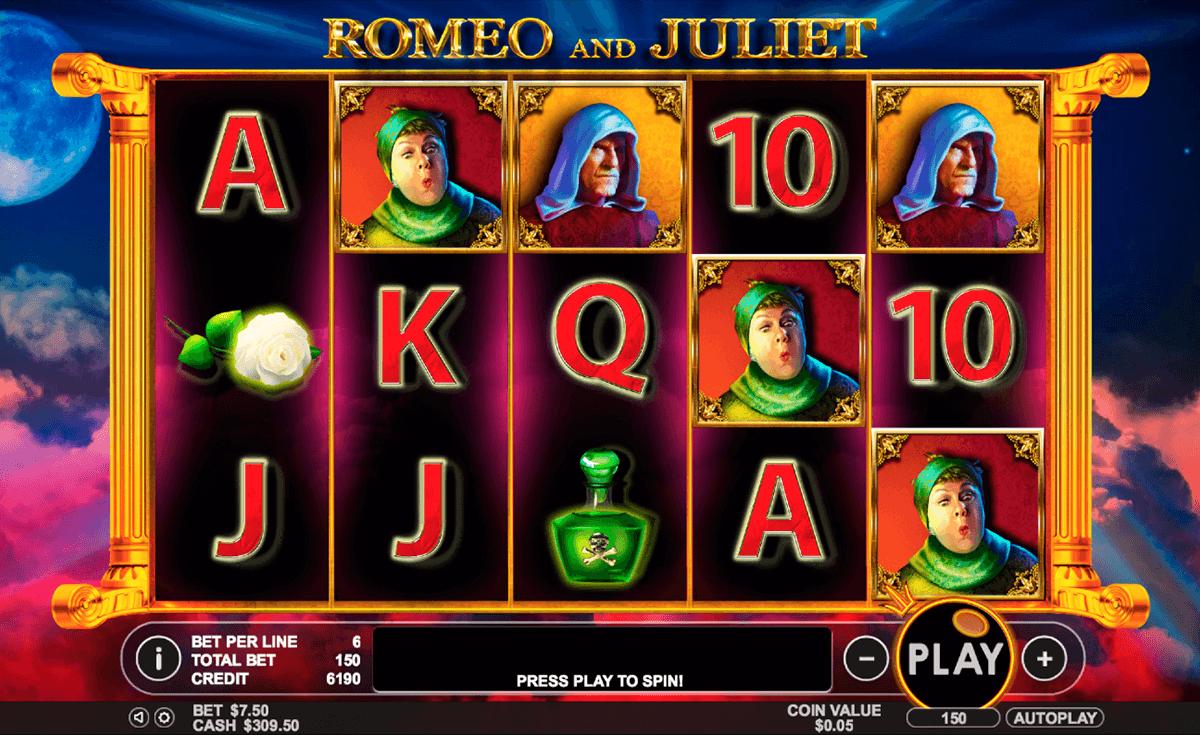 romeo and juliet pragmatic slot