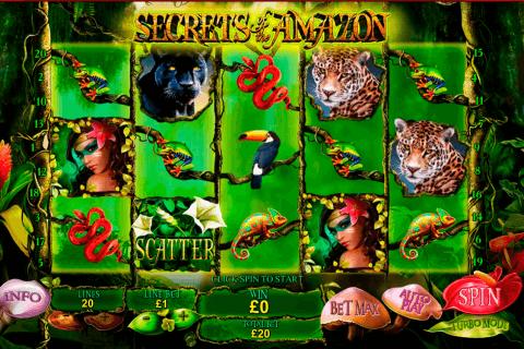 secrets of the amazon playtech slot
