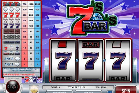 sevens and bars rival slot
