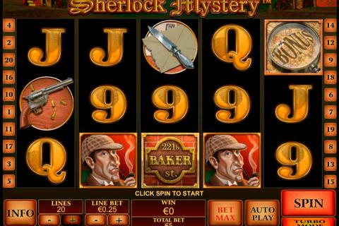 sherlock mystery playtech slot