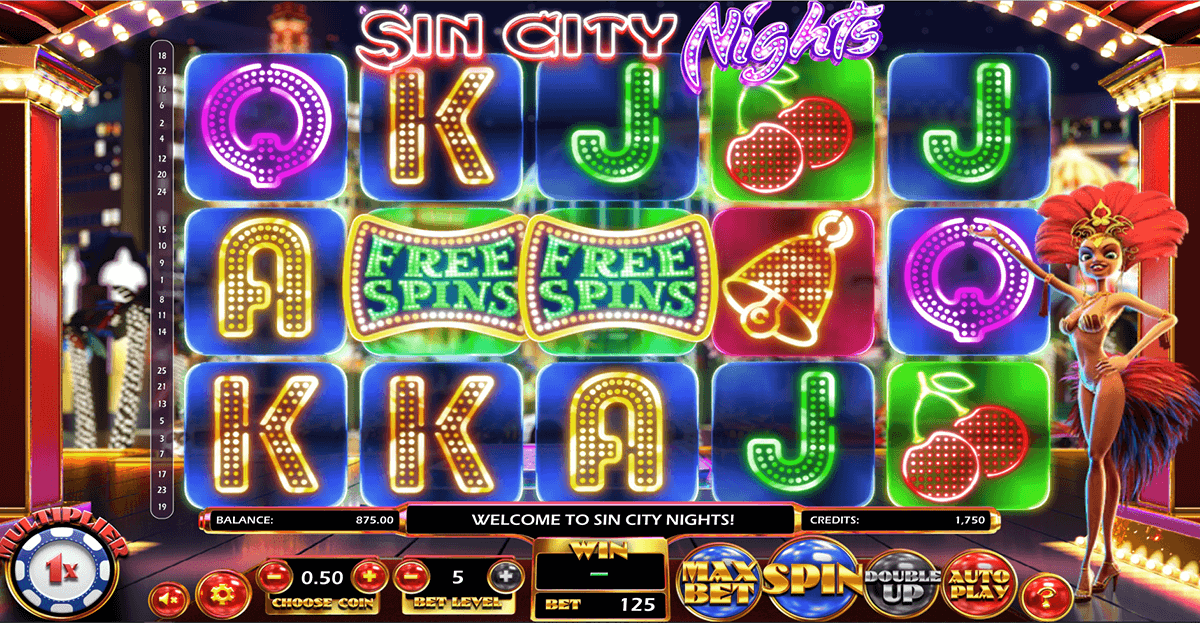 sin city nights betsoft slot