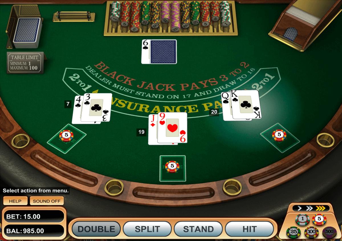 single desk blackjack betsoft online