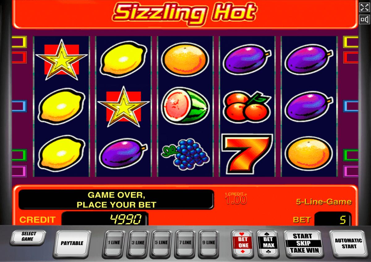 sizzling hot novomatic slot