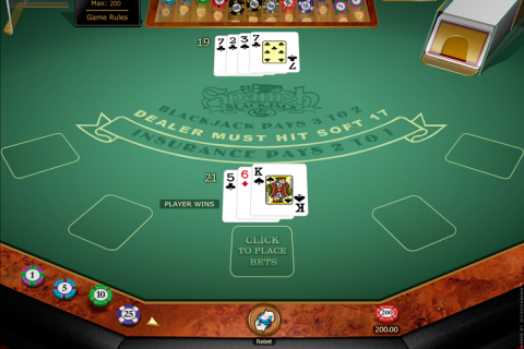spanish blackjack gold series microgaming online