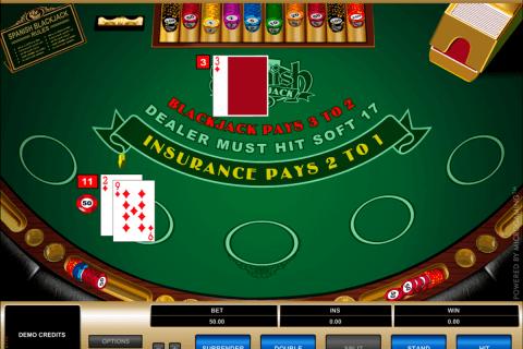 spanish blackjack microgaming online