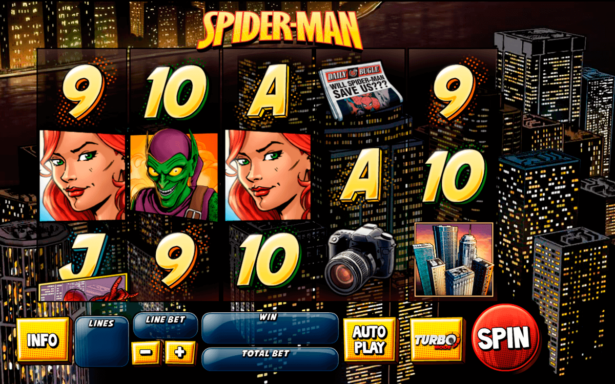 spider man attack of the goblin playtech slot