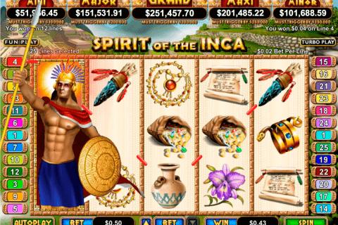 spirit of the inca rtg slot