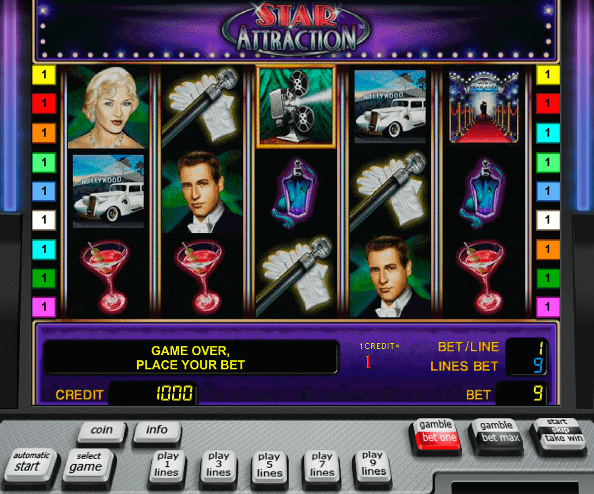 star attraction novomatic slot