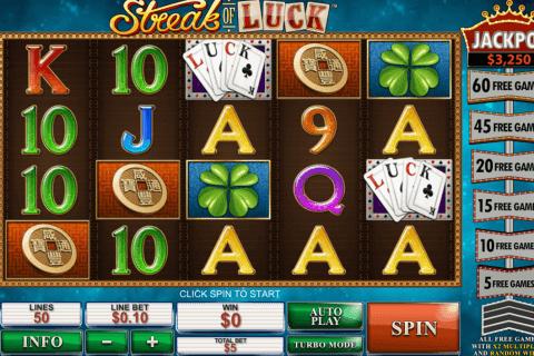 streak of luck playtech slot