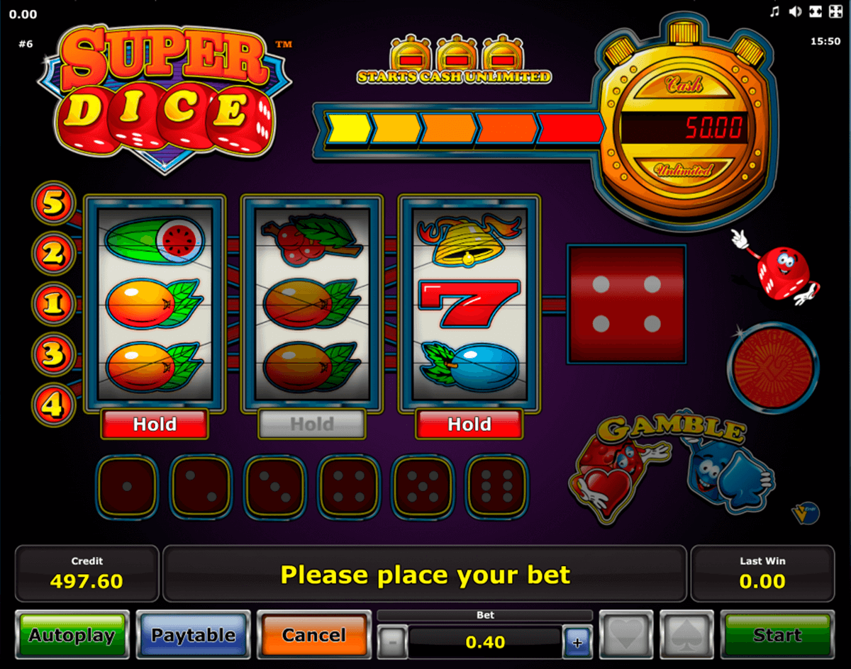 super dice novomatic slot