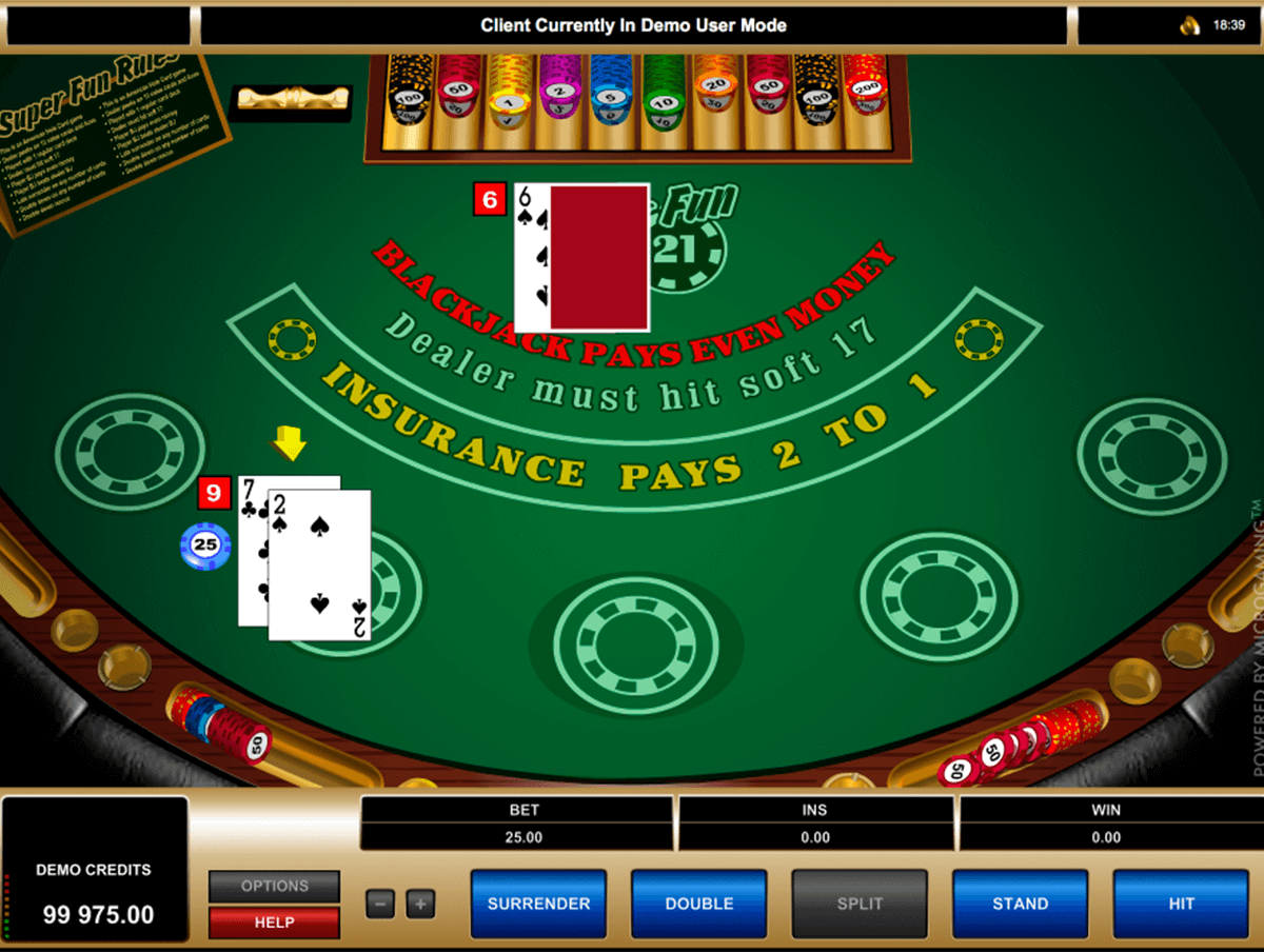 super fun 21 blackjack microgaming online