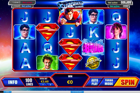 superman playtech slot