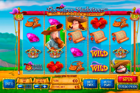 the three musketeers playtech slot