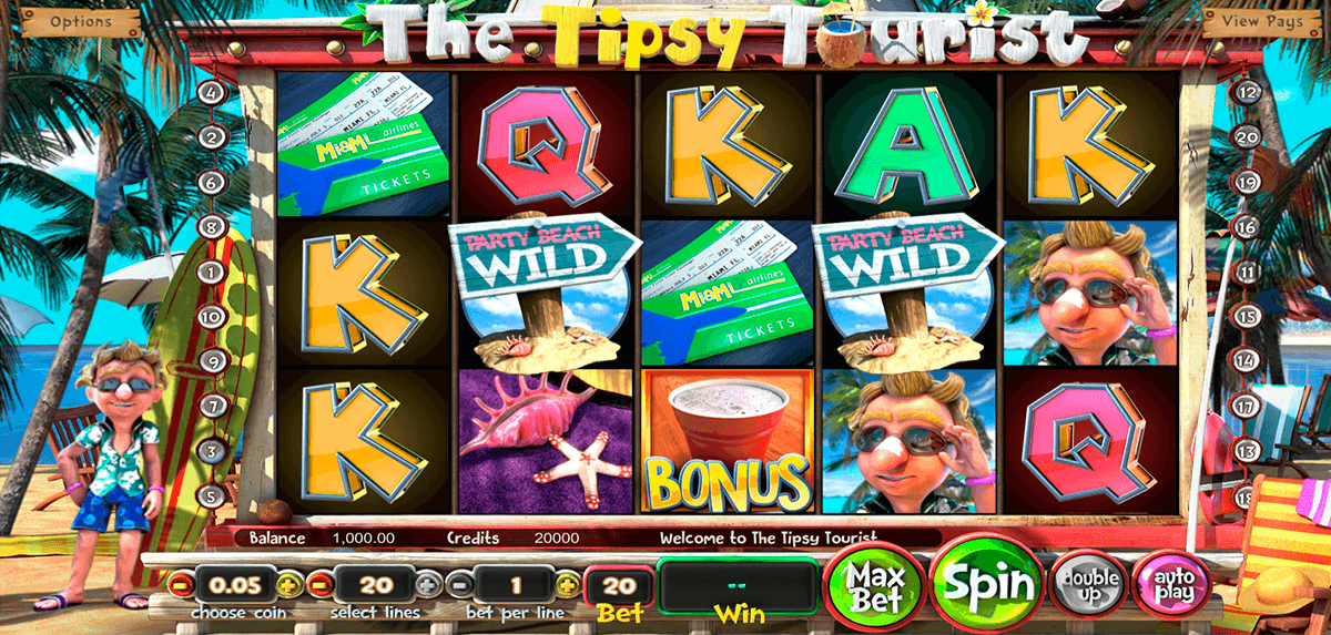 the tipsy tourist betsoft slot