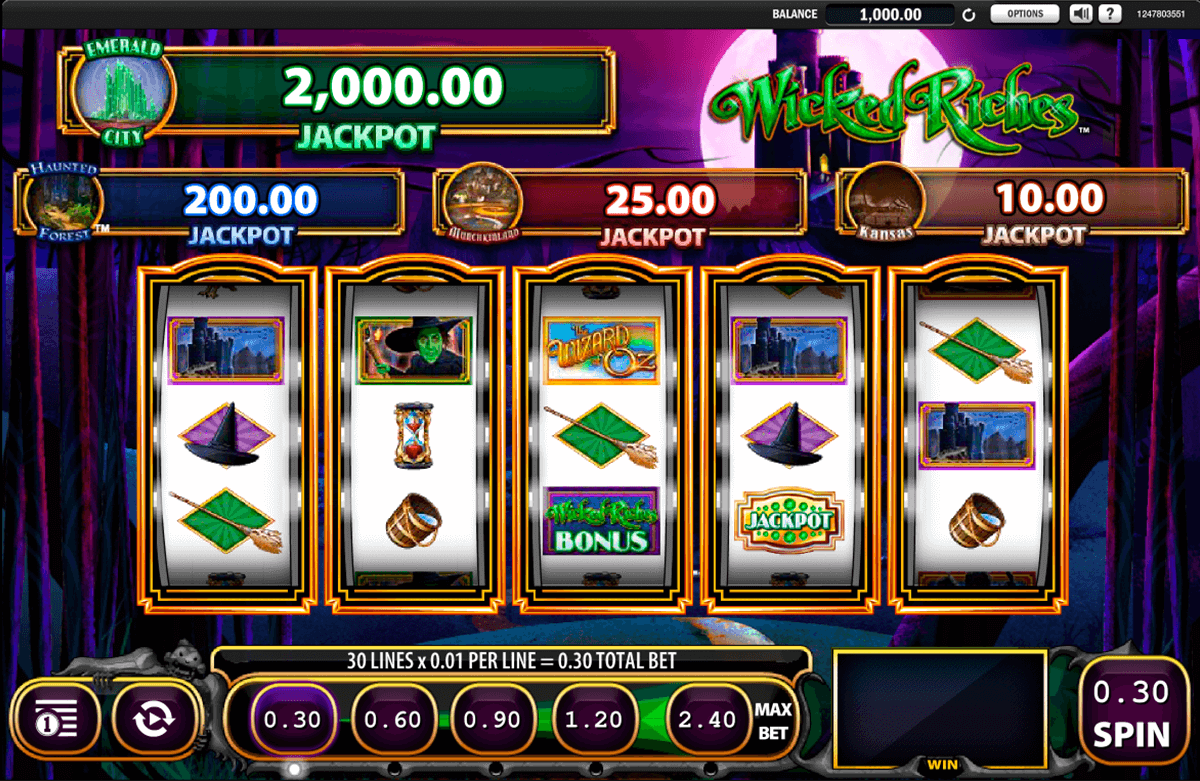 the wizard of oz wicked riches wms slot