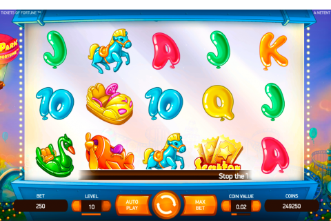 theme park tickets of fortune netent slot