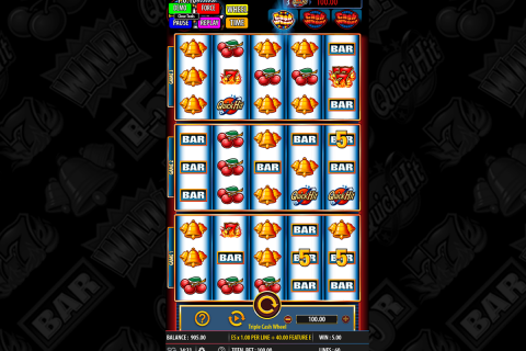 triple cash wheel bally slot