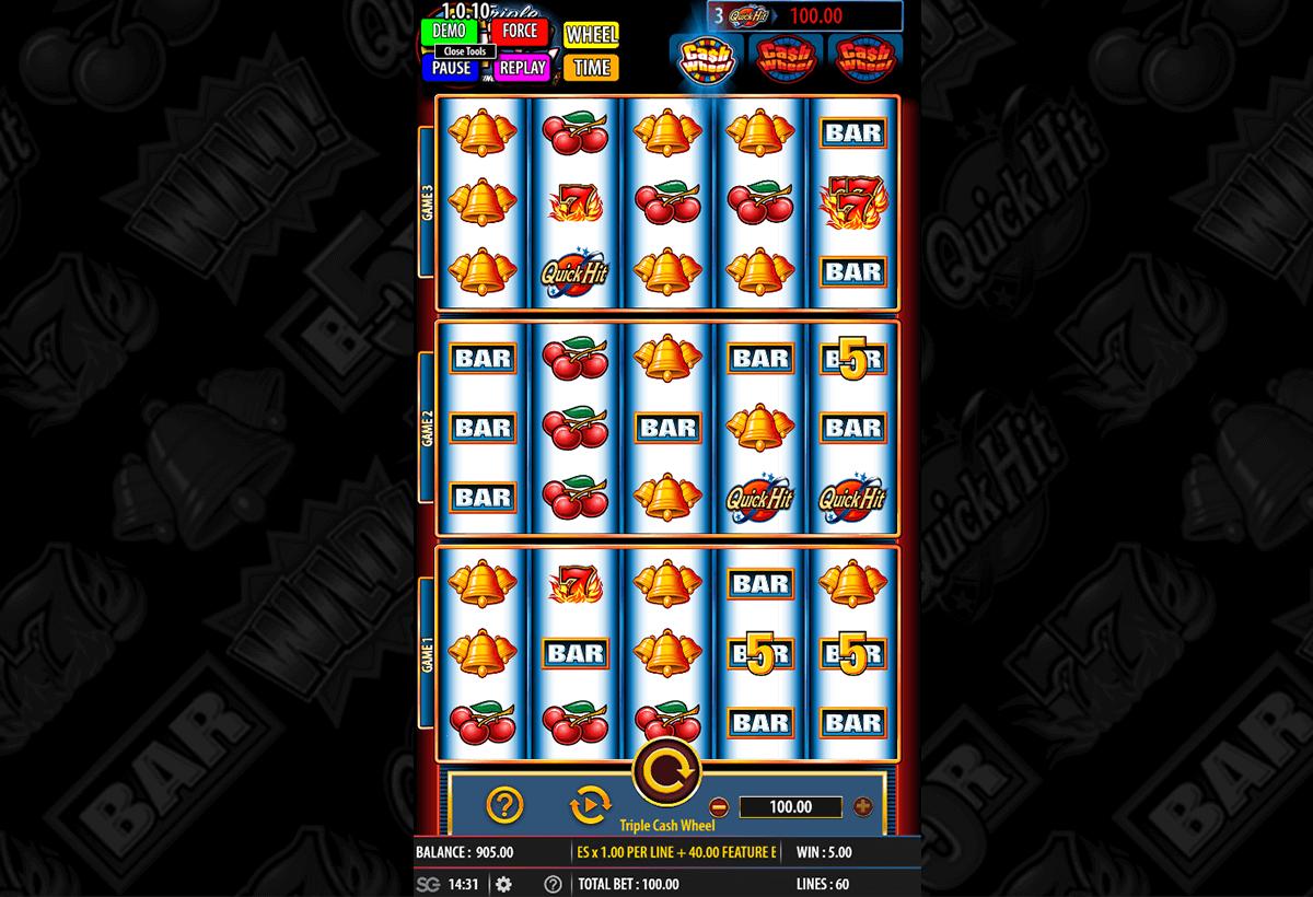 triple cash wheel bally slot