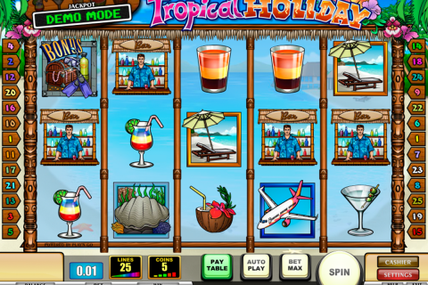 tropical holiday playn go slot